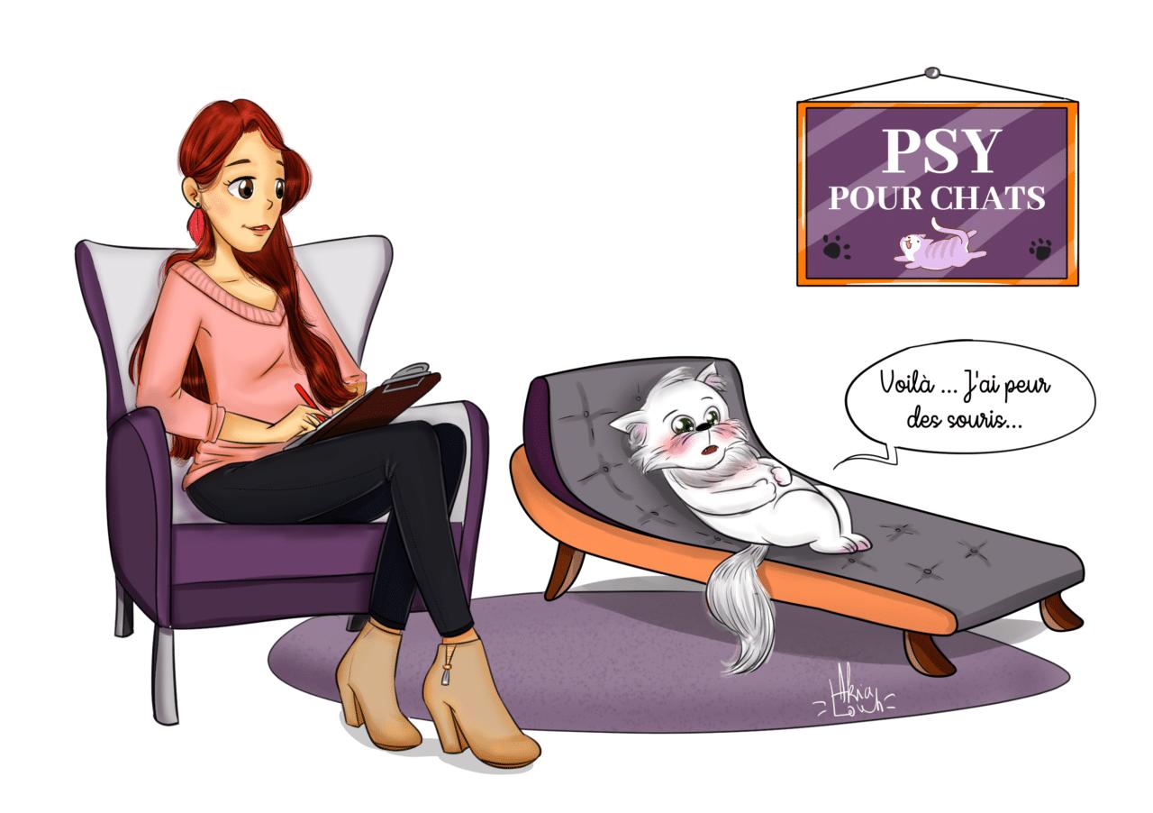PSY POUR CHAT dessin finalisé pour le Blog