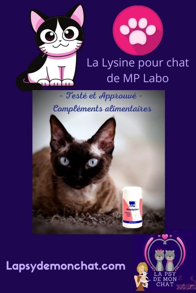 La Lysine pour chat de MP Labo - pinterest -