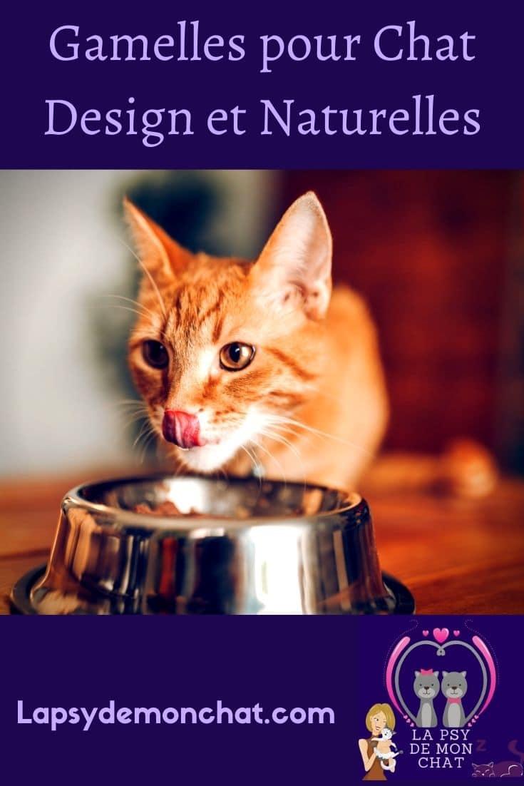 Gamelles pour chat design et naturelles - pinterest