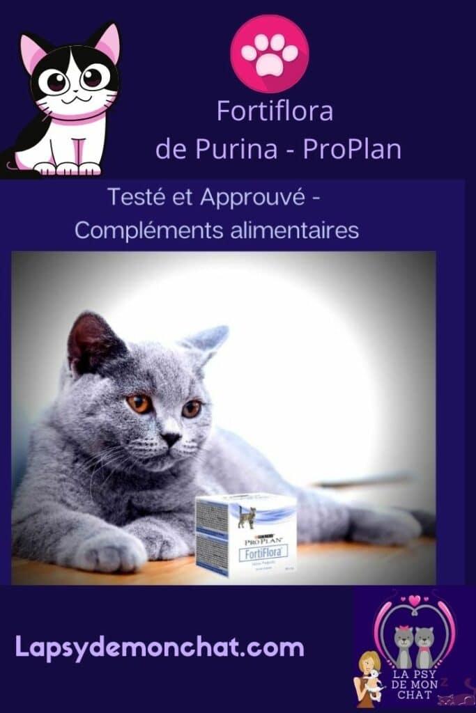 fortiflora pour chat - pinterest