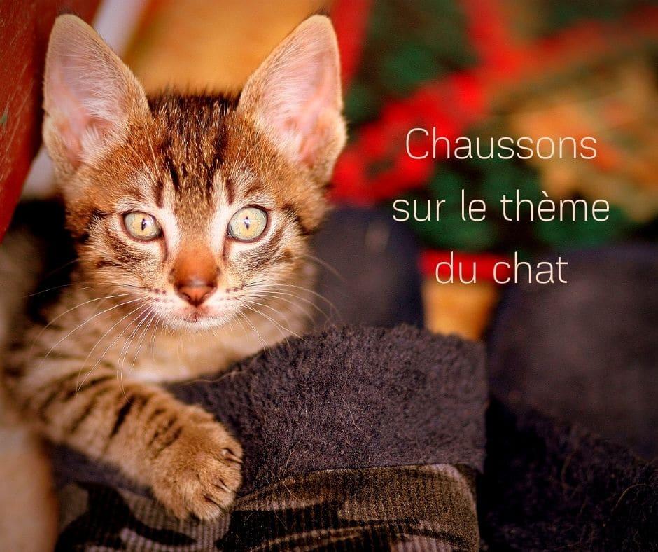 Chaussons sur le thème du chat