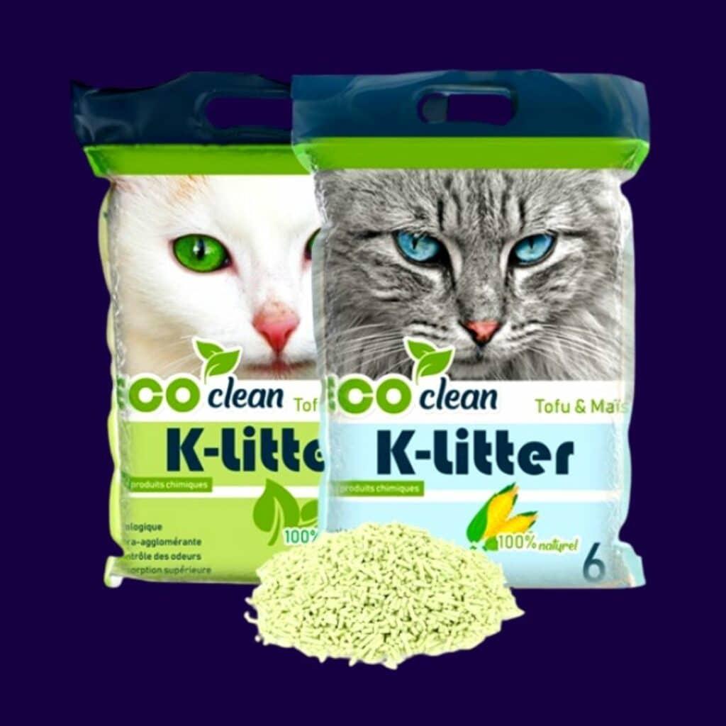 -- K-Litter -- La litière écologique pour chat au tofu