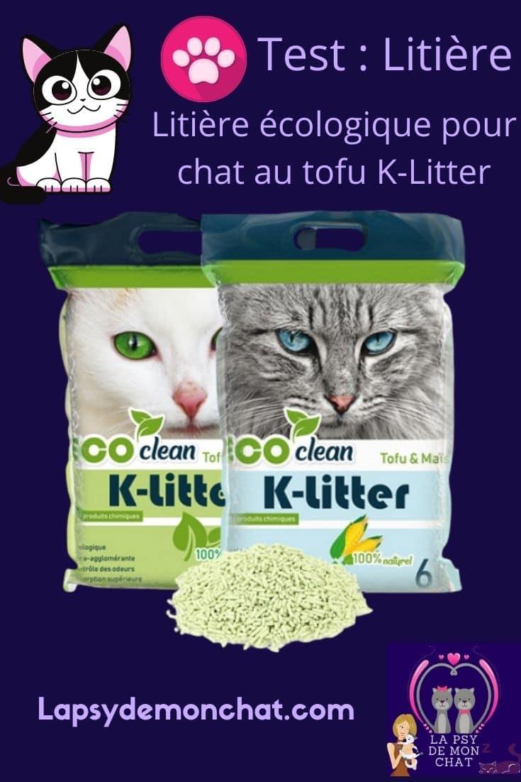 K-Litter La litière écologique pour chat au tofu - pinterest