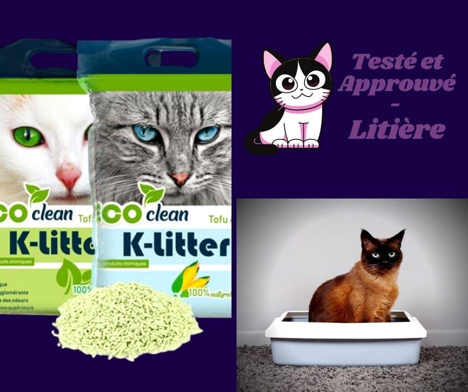 K-Litter La litière écologique pour chat au tofu