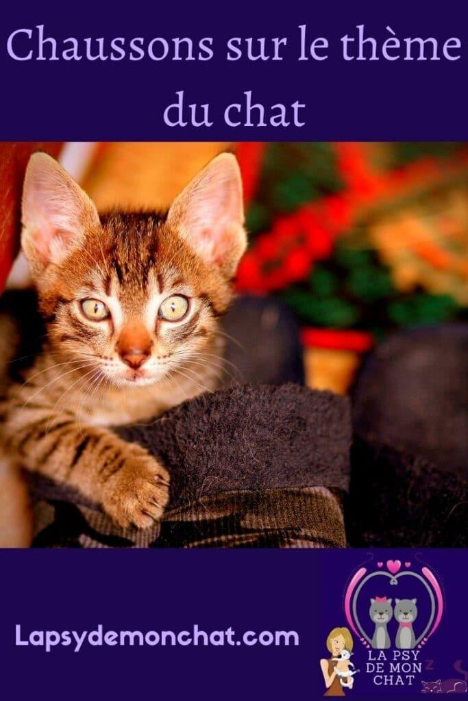 chaussons sur le theme du chat - pinterest