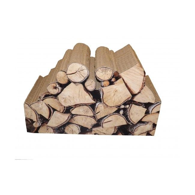 Griffoir en carton pour chat déco Bûches de bois de chez Cat design