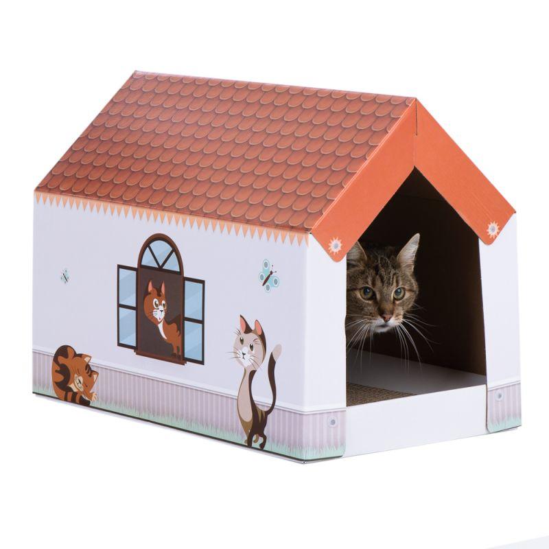 Maisonnette Home XL avec griffoir pour chat