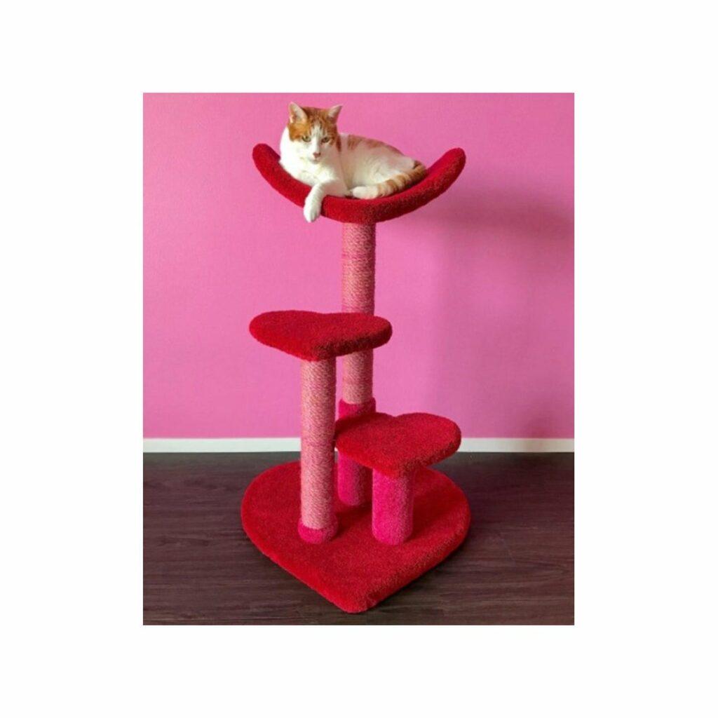 Arbre à chat -  chat amoureux