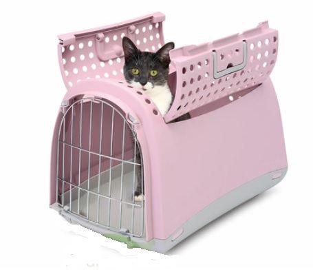 Cage de Transport Imac plastique Linus cabrio rose