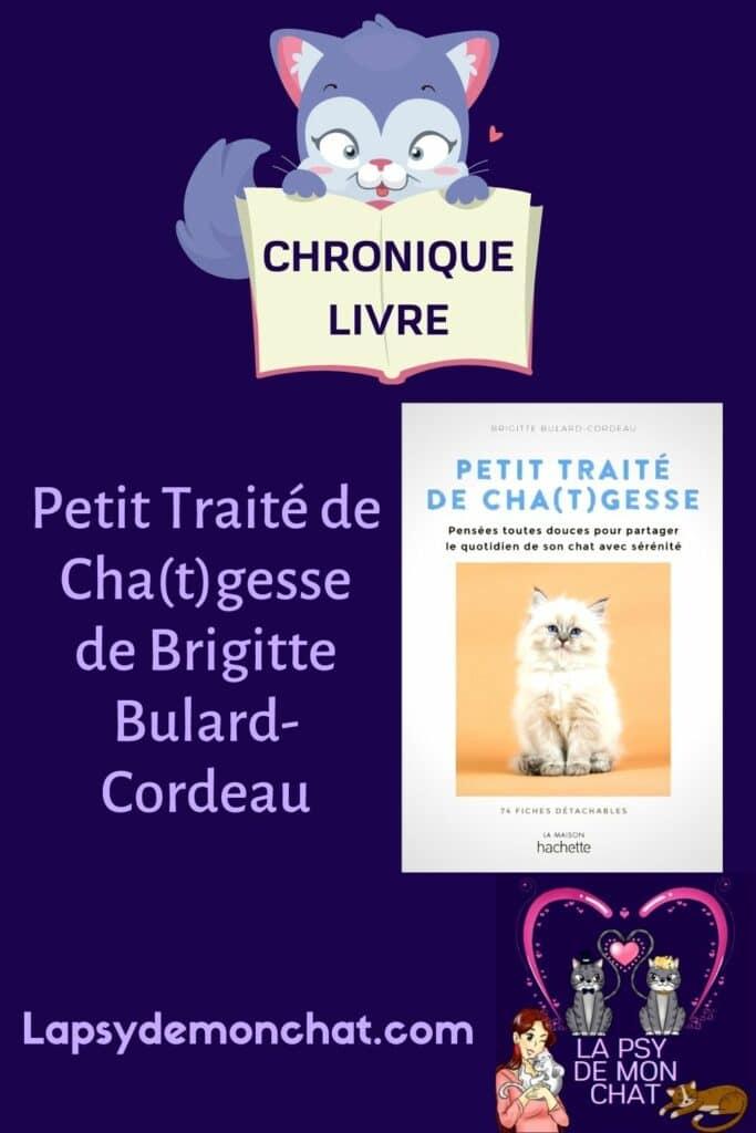 Petit traité de cha(t)gesse de Brigitte Bulard- Cordeau - pinterest