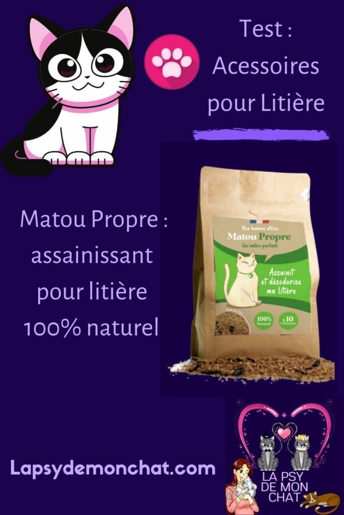 Matou Propre assainissant pour litière 100% naturel - pinterest
