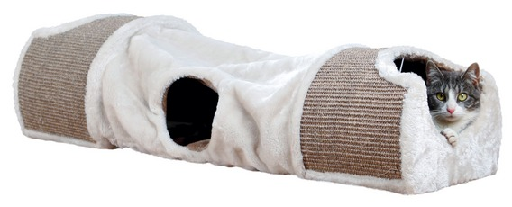 Tunnel à griffer pour chats de chez Trixie