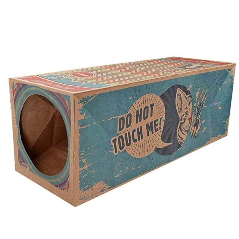 Tunnel jouet pour chat papier kraft