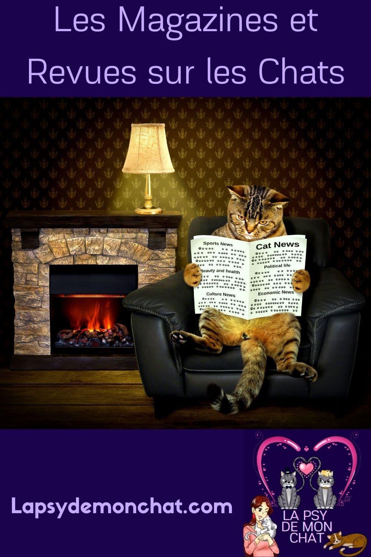 Les magazines et revues sur les chats - pinterest