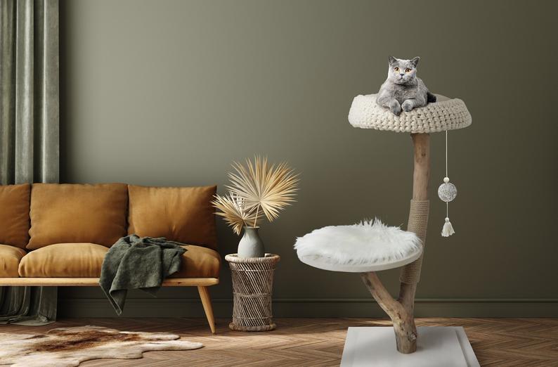 MYA, arbre à chat, design & naturel de chez Katzimini