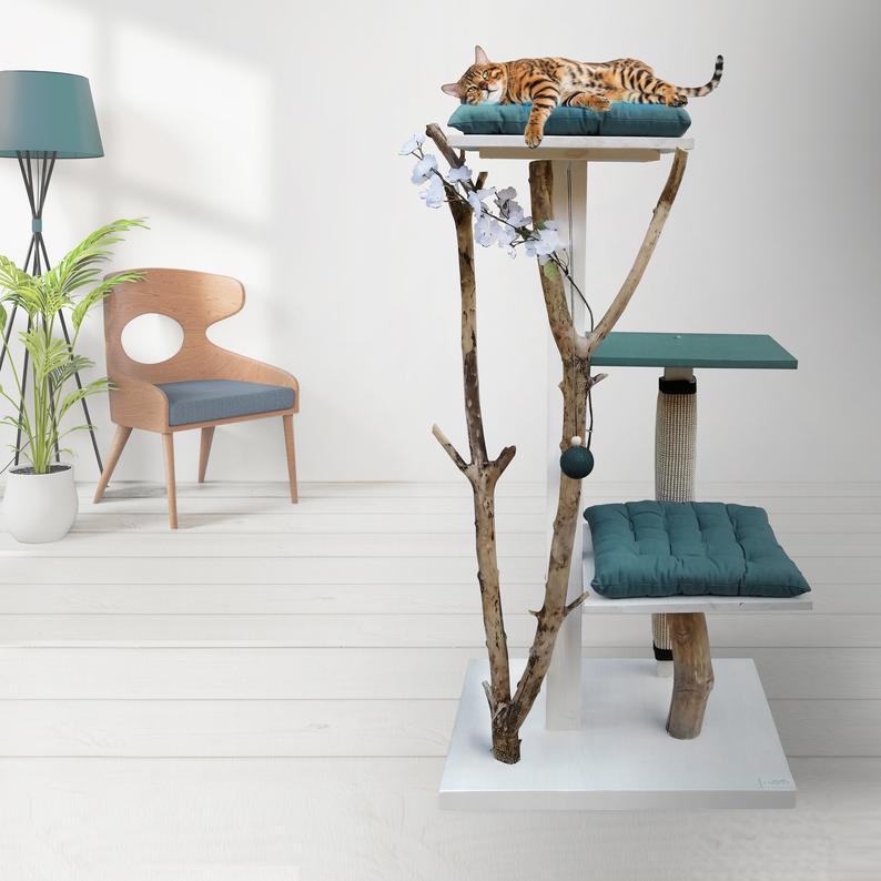 NOVA, arbre à chat, design & naturel de chez Katzimini