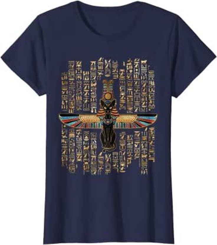 T-Shirt Chat Egyptien Déesse Bastet
