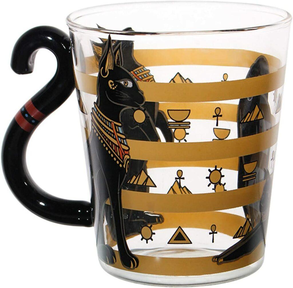 Tasse Chat Égyptien Noir