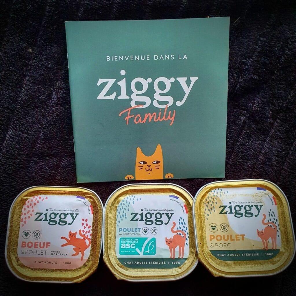 patée pour chat de la marque Ziggy