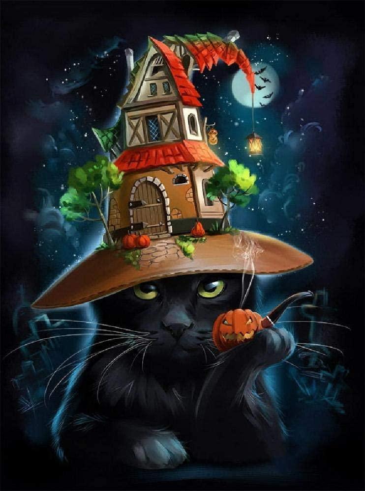 Puzzle en Bois 1000 Pieces Halloween Chat Noir