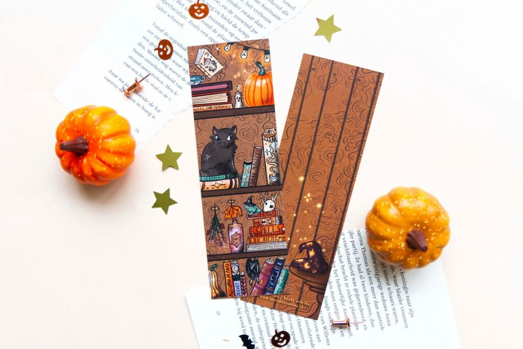 marque page chat halloween